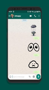 SAD wastickers stickers chat autocallants Screenshot