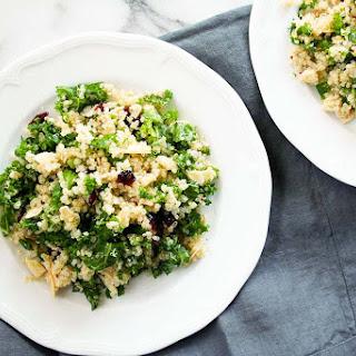 Kale Cranberry and Almond Quinoa Salad Recipe