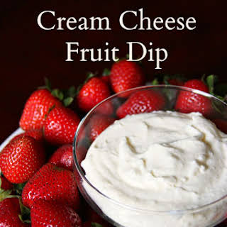 Marshmallow Cream Cheese Fruit Dip.