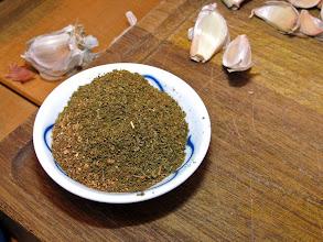 Photo: ground dried spice mixture for pork marinade