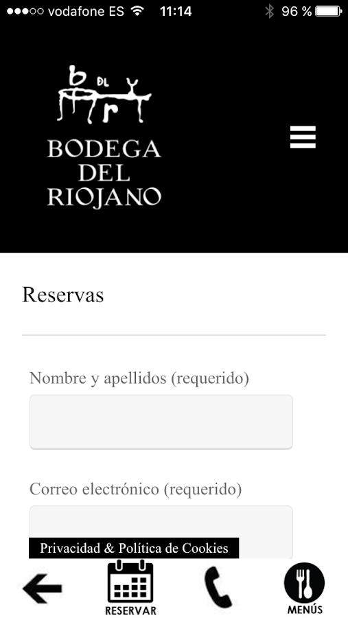 Bodega del Riojano- screenshot