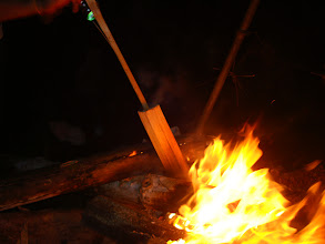 Photo: Bamboo cooking in forest camp in Nam Ha NPA, Laos
