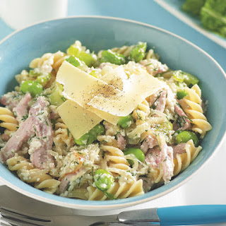 Chicken and Fava Bean Pasta
