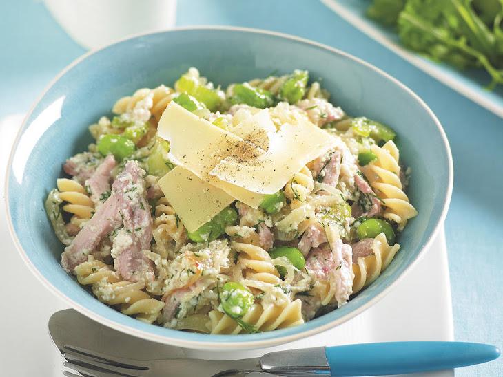 Chicken and Fava Bean Pasta Recipe