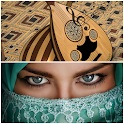 Arabic music and belly dancing icon