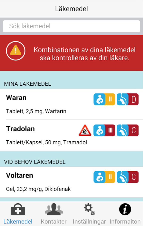 MinMedicinApp- screenshot