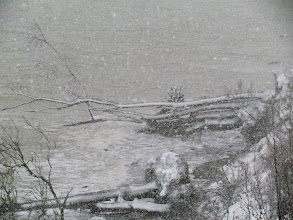 Photo: Heftiger Schneefall begleitete mich an diesem Tag.