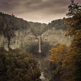 clouds over taughannock. by Colin Gallagher - Landscapes Mountains & Hills
