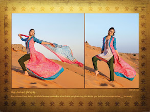 Photo: CODE: 1060 -FABRIC-TOP COTTON-BOTTOM COTTON-DUPATTA CHIFFON . Price : USD 39