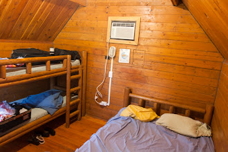 Photo: the cabins at Oleta have beds for four, and A/C