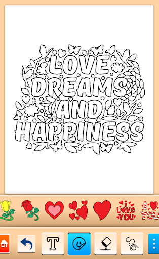 Valentines love coloring book filehippodl screenshot 19