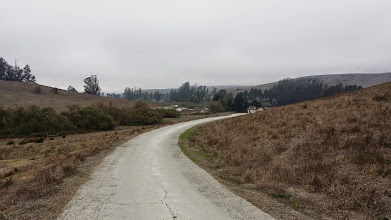 Photo: The road we all walked many times each day to get from our dining room/class room to the Pyro Play Pen.