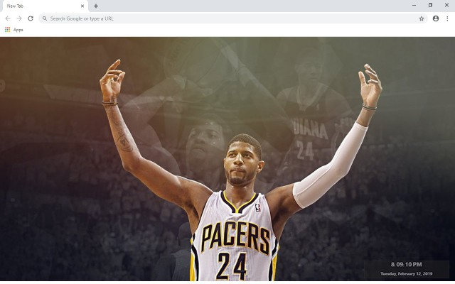 Paul George New Tab & Wallpapers Collection