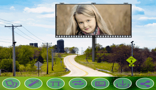 Natural Hoarding Photo Frames