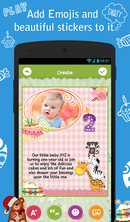 Birthday party invitation android apps on google play birthday party invitation screenshot stopboris Gallery