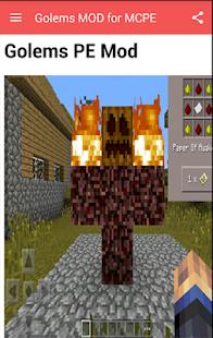 Golems MOD for MCPE screenshot