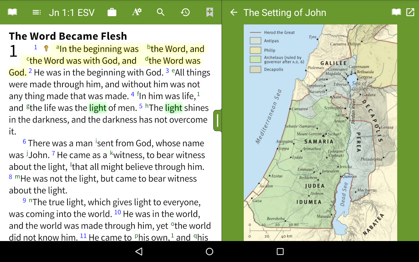 Bible App by Olive Tree- screenshot