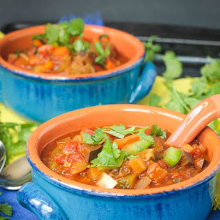 Spicy Beanless Garden Vegan Chili.