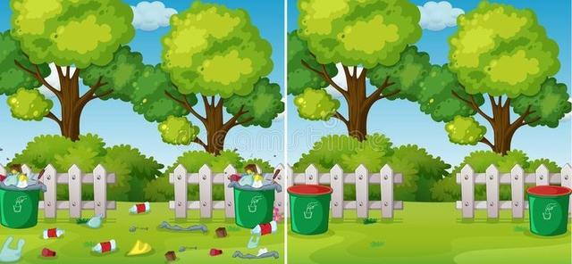 porównanie czysty i brudny park 121138370
