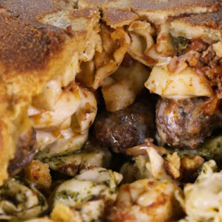 Tortellini and Meatball Timpano