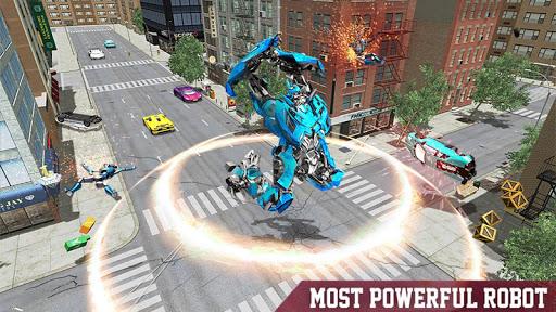 Warrior Robot Sharku2013 Shark Robot Transformation apktram screenshots 10