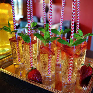 Champagne Julep Punch.