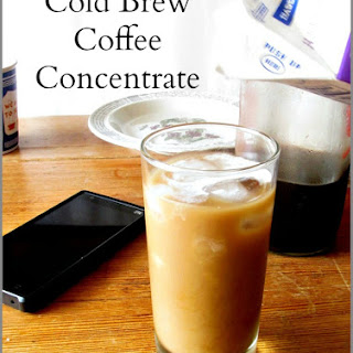Cold Brew Coffee Concentrate.