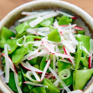Snow Pea, Scallion & Radish Salad