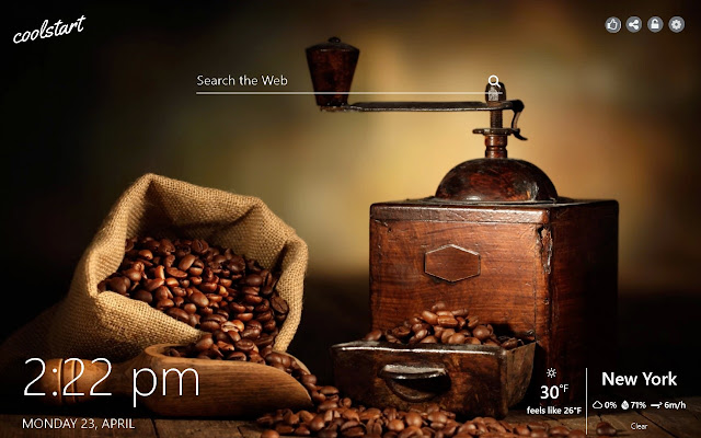 Coffee HD Wallpapers New Tab Theme