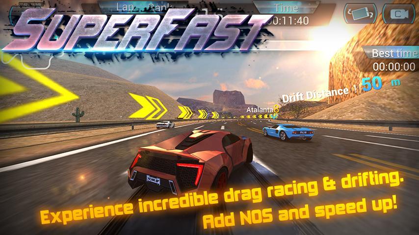 super fast car racing screenshot - Super Fast Cars