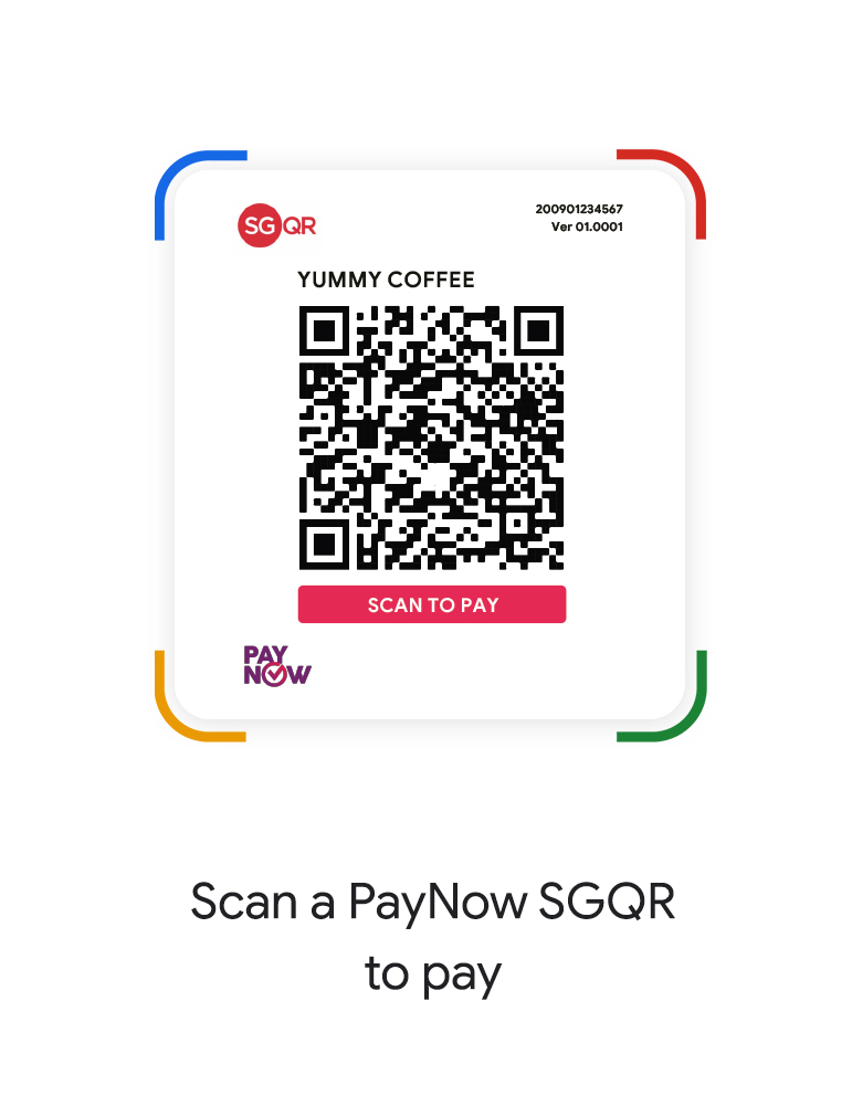 Scan a QR code to pay or Spot Code to connect