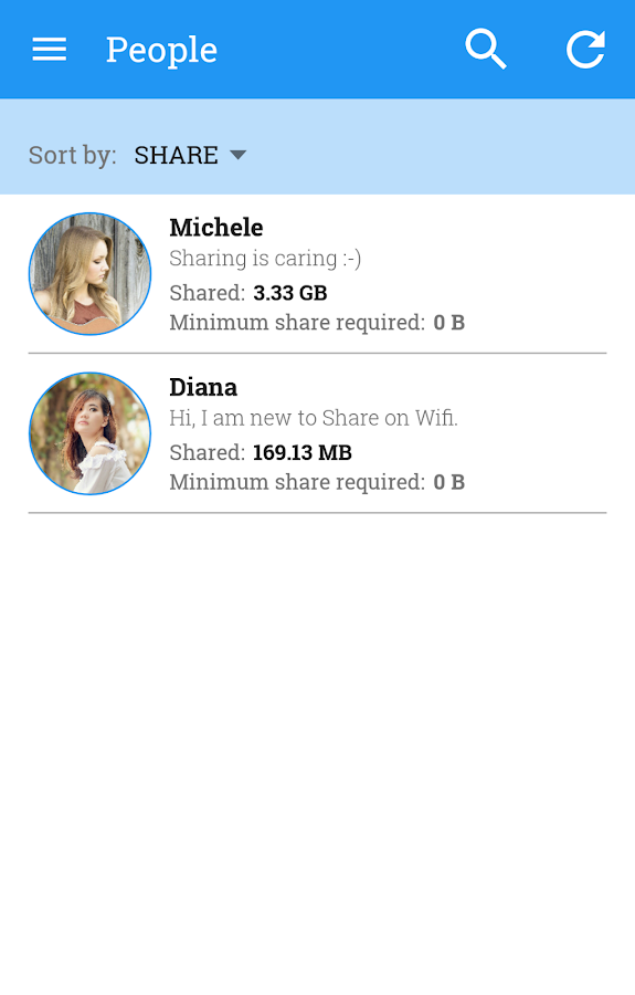 ShareOnWifi: P2P file sharing- screenshot