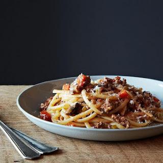 Nigel Slater's Really Good Spaghetti Bolognese.
