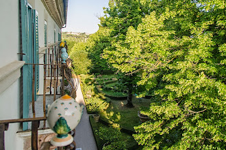 Photo: View of the garden from the apartment, with the linden trees