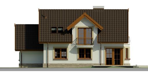Dom przy Modrzewiowej 11 - Elewacja tylna