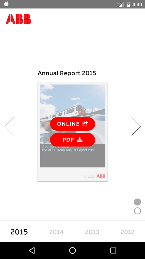 ABB Reports- screenshot