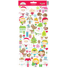 Doodlebug Cardstock Stickers - Christmas Town Icons