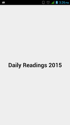 Daily Readings 2015