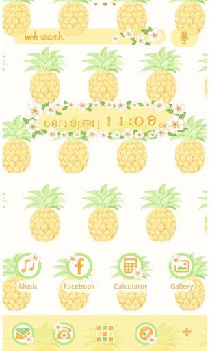 かわいい夏壁紙・アイコン-トロピカル・パイナップル-無料
