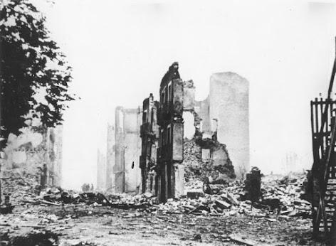 Foto: Die Ruinen von Guernica.