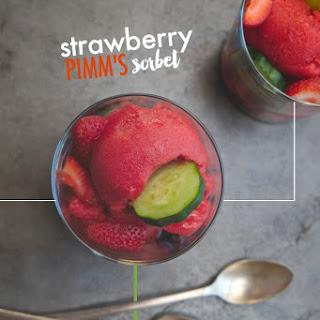 Strawberry Pimm's Sorbet