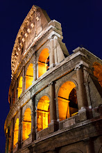 Photo: Colosseum at dusk. Rome, Italy.