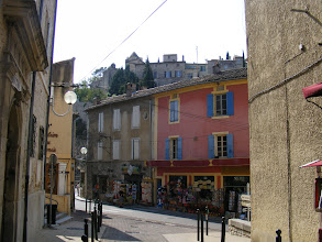 Photo: We move on next to Vaison-la-Romaine, and its bustling lower center below the medieval Upper Town [Haute Ville].
