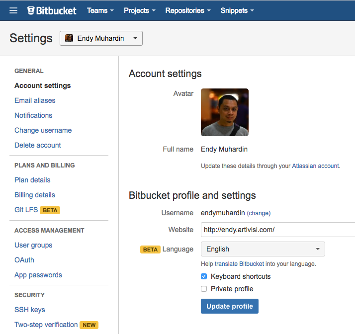 Bitbucket Setting