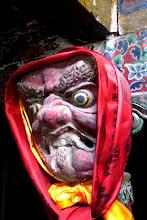 Photo: Dans la 1ère pièce de la gompa de Chudzong
