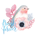 Nature Bird & Flowers Keyboard Stickers for Gboard icon