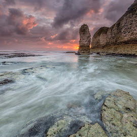 Selwicks Bay by Phil Green - Landscapes Waterscapes ( sunrise, seascape, flamborough head, stack, east yorkshire )