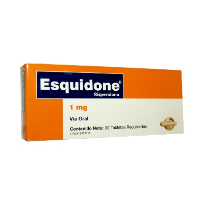 Risperidona Esquidone 1 Mg X 30 Tabletas Valmor