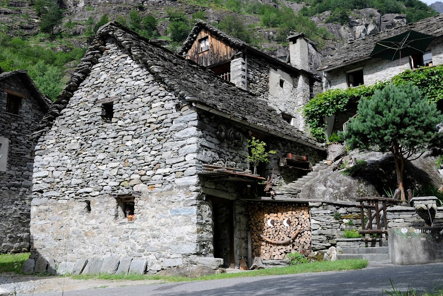 Ticino by Serguei Ouklonski - Buildings & Architecture Public & Historical ( home, old, building, ticino, wood, stone, traditional, tourism, architecture, travel, house, rustic, historic, rural, heritage, history, ancient, nature, outdoors, switzerland, summer, wall, culture, streetview architecture )