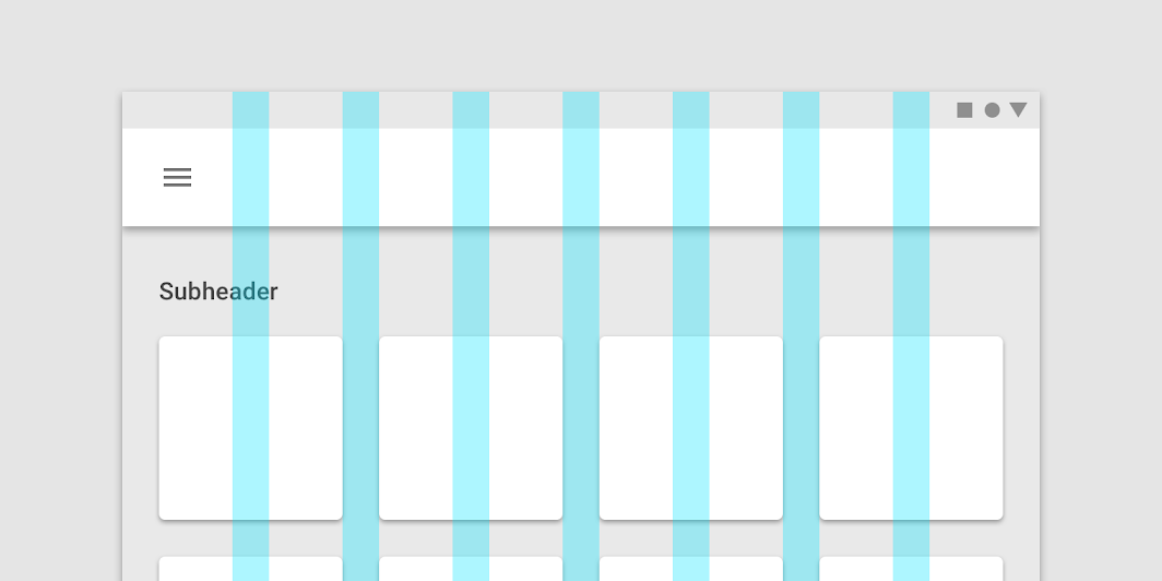 Responsive Layout Grid Material Design